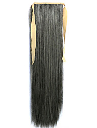 Green Straight Blending Long Straight Hair Wig Ponytails 4A/613