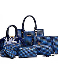 Women PU Formal / Casual / Office & Career / Shopping Tote / Bag Sets Blue / Yellow / Brown / Red / Black