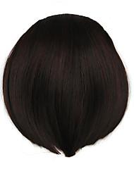 Kinky Curly Brown Retardant Human Hair Weaves Chignons 2/33