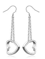 Женский Серьги-слезки Сердце Сексуальные платья Мода Богемия Стиль Серебрянное покрытие В форме сердца Геометрической формы Бижутерия