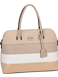 DAVIDJONES/Women PU Baguette Shoulder Bag / Tote / Satchel / Cross Body Bag-Beige / Black