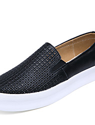 Women's Shoes Calf Hair Spring / Summer / Fall Creepers / Comfort Fashion Sneakers / Loafers Outdoor / Casual / Athletic Platform Slip-on
