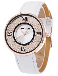 moda quartzo diamante couro novo pouplar cinto individualidade relógios de relaxamento moda senhoras