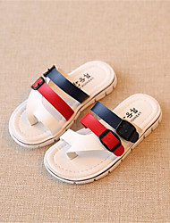 Boy's / Girl's Slippers & Flip-Flops Spring Leatherette Outdoor Red / White