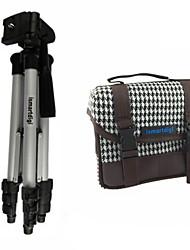 ismartdigi I101 branca bolsa de câmera + IR120 3 seções tripé para todos DSLR e mini-dv Nikon DSLR canon sony Olympus