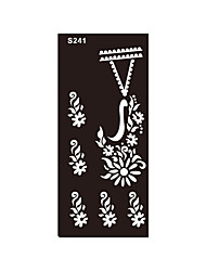 bras arrière 1pc aérographe tatouage temporaire art corporel au henné impression pochoir tatouage autocollant fleur bijoux S241