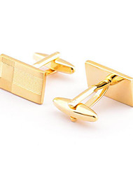 Men's Fashion Gold Alloy French Shirt Cufflinks (1-Pair) Christmas Gifts