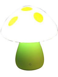 cogumelo usb levou luz noturna recarregável atmosfera lâmpada de mesa colorido