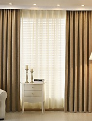 Two Panels Modern Stripe Chenille Blackout Curtains Drapes Red Navy Coffee