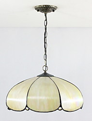 Pendant Light ,  Tiffany Bowl Electroplated Feature for Mini Style Metal Living Room Bedroom Dining Room Entry Game Room