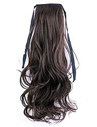 longitud 50 cm borwn fábrica de la venta directa de tipo cola de caballo se unen rizo de pelo cola de caballo (color 4a / 33)