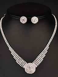 Jewelry Set Women's Anniversary / Wedding / Birthday / Gift / Party / Daily / Special Occasion Jewelry Sets Rhinestone CrystalNecklaces /