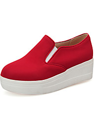 Women's Shoes Fabric Platform Platform / Creepers / Comfort Loafers Outdoor Red