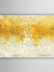 pintados à mão pintura a óleo aguarela de ouro com moldura abstracta esticado arts® 7 parede