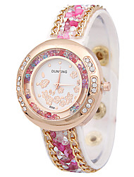 Femme Montre Tendance Quartz Alliage Bande Charme Noir Blanc Rouge Marron Rouge Rose