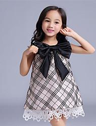 Robe Fille de Eté / Automne / Printemps Coton / Polyester Marron / Violet