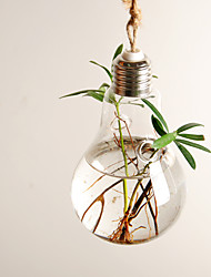 Glass Flower Light Bulb Vase(Including to Drag,Flowers Not Included)