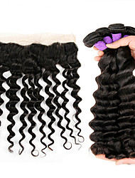 Peruvian virgin hair loose wave 4pcs hair weft with top 13x4 closure 8A Human hair cheap price Hair Extension
