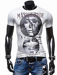 2016 Men Shorts T-shirt Fashion Brand Design Sportswear Pretty Cotton Young Woman Pattern Printed Slim Straight O-Neck