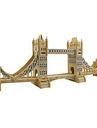 Пазлы 3D пазлы / Деревянные пазлы Строительные блоки DIY игрушки известные здания Дерево Золотистый Модели и конструкторы
