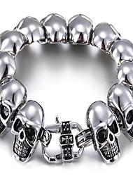 kalen®bracelet charme pulseira crânio de Halloween / dia / ocasional dom jóia de prata, 1 peça