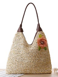 STYLE-CICIWomen-Casual-Straw-Shoulder Bag-White / Beige / Green / Brown