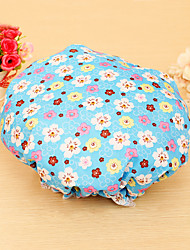 High Quality Beautiful Printed Satin Fabric Shower Caps