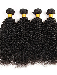 4 Pcs/Lot Brazilian Curly Virgin Hair Weave Natural Black 100% Remy Human Hair Extensions for Black Women 400g