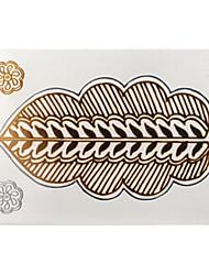 Stencils de Tatuagem TemporáriaFeminino / Adulto- dePapel-Dourada-8*11*0.31