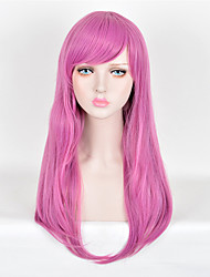 Fashion Wigs Purple Color Top Quality Straight Synthetic Wigs