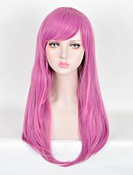 mode perruques perruques synthétiques droites pourpre de qualité supérieure de la couleur