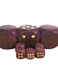 Royal St venta hua dados limu puntos por completo la madera material de cobre con incrustaciones atmósfera de uñas 1 juego de dados de 1,7