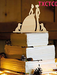 Cake Topper Non-personalized Monogram Wood