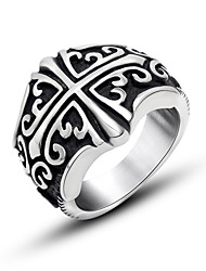 Style Restoring Ancient Ways Ring Punk Cross Character Flower Ring