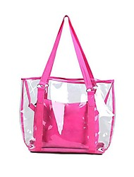 Lady's Clear PVC Transparent Jelly Candy Small Bag Tote Clear Beach Handbag Bucket Satchel Picture package Beach Bag