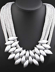 Resin / Fabric Necklace Statement  Necklaces / Collar Necklaces for Women