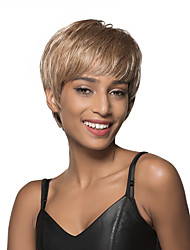 Carefree Short Straight Capless Human Hair Wig