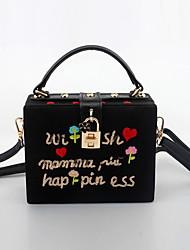 L.WEST Women's Handmade Cartoon Embroidery Evening Bag