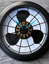 Retro Creative 3D Stereo Fan Wall Clock