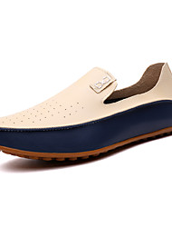 Men's Shoes Wedding / Office & Career / Party & Evening / Casual Nappa Leather Loafers Big Size Blue / Beige