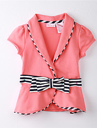 Girl's Striped Blouse,Cotton Fall / Spring Orange
