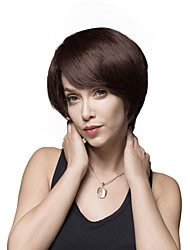 Short Carefree Straight Human Virgin Remy Hair Hand Tied -Top Emmor Woman's Wig