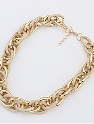 Necklace Choker Necklaces / Chain Necklaces Jewelry Wedding / Party / Daily Fashionable Alloy Gold / Silver 1pc Gift