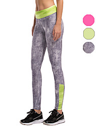 Vansydical Women's Quick Dry Yoga Bottoms Green / Red / Gray