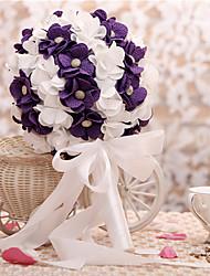 Fleurs de mariage Rond Lis Bouquets Mariage Satin / Papier Env.23cm