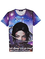 3d t-shirt pop super star micheal jackson costumi cosplay t-shirt abbigliamento geek girocollo maniche corte