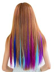 Synthetische kleurrijke clip in hair extensions 1 clips 7color