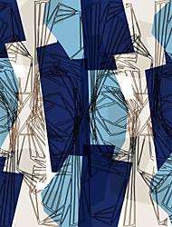 Mural Geométrico Papel de parede Contemporâneo Revestimento de paredes,Tela Sim