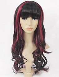 multi-cor do cabelo reta onda longa sintética peruca feminina