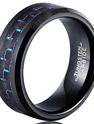 Ring Fashion / Vintage Wedding / Party / Daily / Casual Jewelry Tungsten Steel Men Band Rings 1pc,7 / 8 / 9 / 10 / 11 / 12 / 13Black /